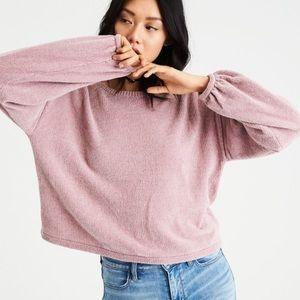 AEO dusty rose soft sweater size M